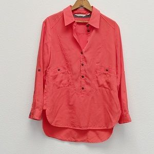 Soft Surroundings Popover Half Button Long Sleeve